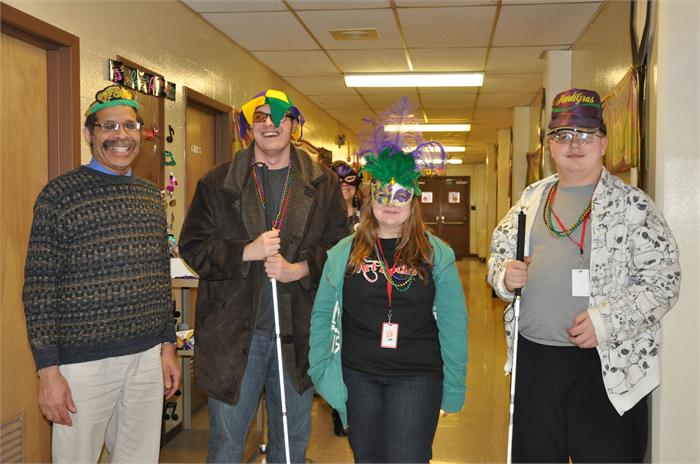Students celebrating Mardi Gras!